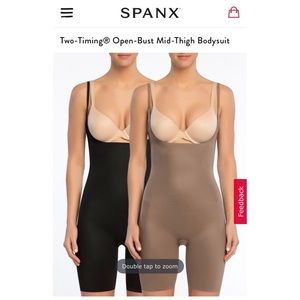 Spanx reversible two tone shaping bodysuit
